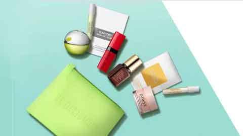 Beauty-Bag mit 6 Gratis-Minis